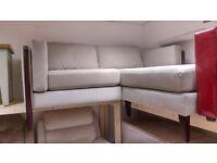 small grey modern chaise sofa