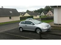 2001 Honda Civic ideal first car. Long M.o.t. ( focus astra corsa fiesta golf polo type r swap )