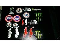 Iron on badges 1 pound each free postage min order 10pounds