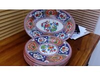 Six Melamine plates with Oval Server