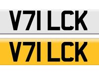 V71 LCK private cherished personal peroanalised registration plate number