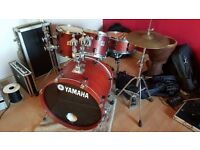 drumkit and cymbals
