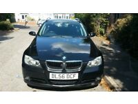 bmw 318i estate 2007 black tax mot hpi clear 318 touring bargain!!!