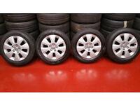 Audi Genuine 16 alloy wheels + 4 x tyres 205 55 16