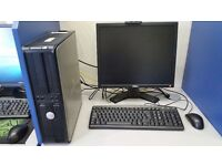 Dell PC, Intel Dual-Core 2.60 GHz, 4GB RAM, 500GB HDD, Windows 10, monitor 19'' included
