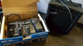 Guitar amp with sound mixer