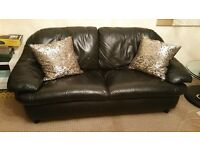 3 sit black sofa