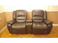 La-Z-Boy (Lazy Boy) 2 Seater Recliner Sofa with Drink Holders and Central Storage