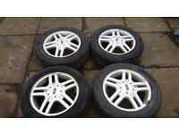 """Genuine Ford Alloy Wheels & Good Tyres 15"""" - Fiesta, Fusion, Focus, Puma etc 4x108 pcd"""