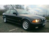 BMW E36 323i Coupe Black metalic, manual, M52B25 Engine, last owner for 15 years