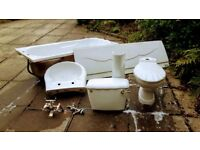 White bathroom suite - used but undamaged and in excellent condition