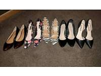 5 pairs of Ladies Shoes for £12 OPEN TO OFFERS
