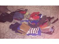Job lot of shoes and designer kids clothes 5 to 6 years Lacoste Hugo boss Armani gstar adidas Nike