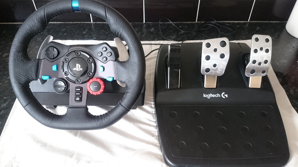 b2d1aef8ce4 Logitec G29 steering wheel and pedals with GTEYE brake spring. for PS3, PS4  and PC