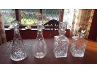 4 Heavy Lead Decanters