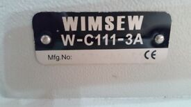 WIMSEW MODEL WC-111-3A INDUSTRIAL SEWING MACHINE. IN VERY GOOD CONDITION GOOD WORKING ORDER.