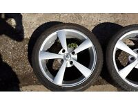 Alloy wheels 17' 4x114 good tyres