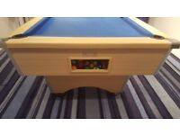 8x4 Slate Pool Table with jack and Table Tennis top