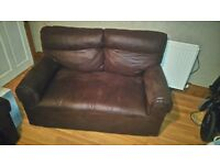 DFS 3 piece suite, chocolate colour in excellent condition.