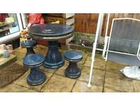 Garden table and stools