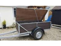 Large robust box trailer ( removable top ) camping farm builder