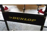 Dunlop table tennis table, net, bats etc.