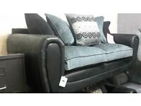 black and grey3/2 sofa suite