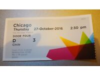 Chicago the musical theatre ticket for Canterbury Marlowe Theatre on 27th October 2016 at 2.30pm