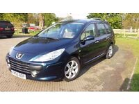 Peugeot 307sw 1.6 HDi Diesel 7 Seater Low Miles High Spec.