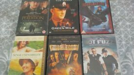 6 assorted DVD's