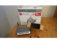 Belkin ADSL modem and wireless router, as new