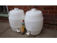 Two Home Brew Barrel's - 5 gallon pressure barrels with Hamble Bard S30 Co2 cylinder only used once