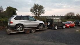 Car transporter trailer 16f and winch