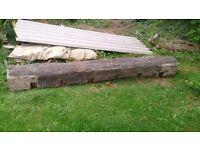 Reclaimed Oak beam lintel 2.3m (solid condition)