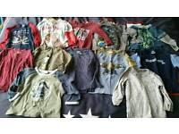 Big bundle Baby boys 12 - 18 months clothes bundle tops trousers shorts shirts sleepsuit pajamas