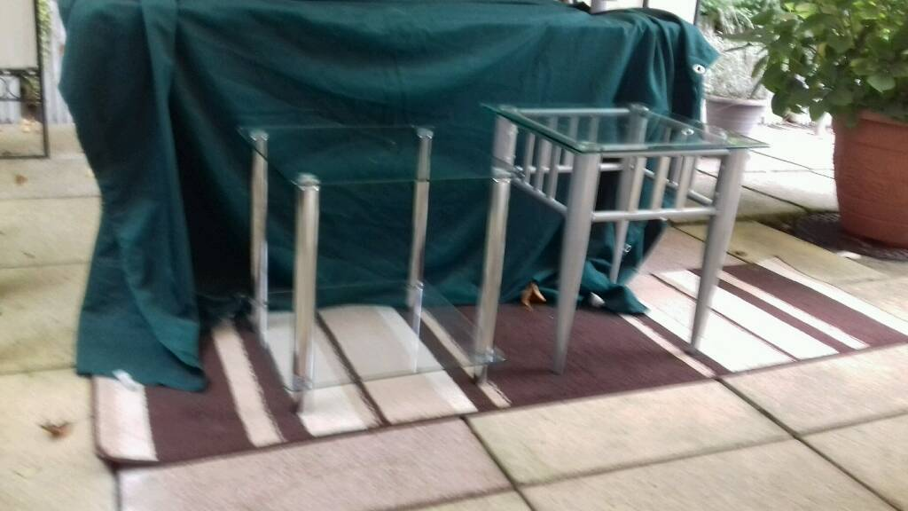 2xglass occasional tables