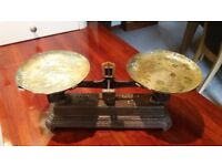 Vintage French balance tray scales.