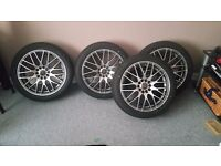 Wolfrace bayern alloys new with new tyres