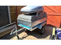Maypole Trailer SY150 with ABS Lid and Roof Box
