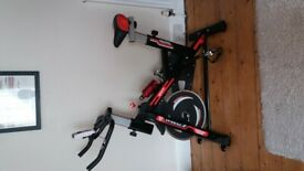 Spin Bike - As new - ultra quiet resistance spin bike with LCD monitor