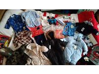 Job lot brand new baby boys clothes range from 0-3 months to 3-6months