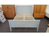 Julian Bowen Maine Dove Grey Double Bed (BED ONLY) Can Deliver