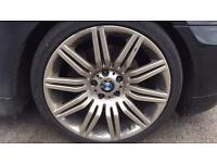 2 x front and 1 x rear aftermarket BMW spyder alloys