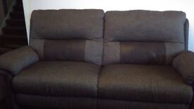 Brown 3 seater recliner