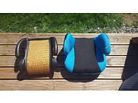 Childrens booster seats x2