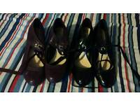 2 X PAIRS OF WIDE FIT M & S HEELS LACE UP