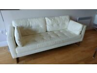 Dwell leather 3 seater sofa