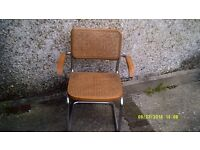 TWO BAUHAUS CHAIRS as in PICTURES with ARMS , BEAUTIFUL CHAIRS in WOOD & CHROME
