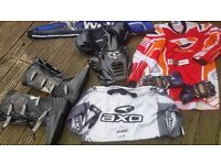 MOTOCROSS BOOTS AND CLOTHING .BODY ARMOUR