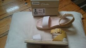 Clarks Sandals size 6, *worn once*